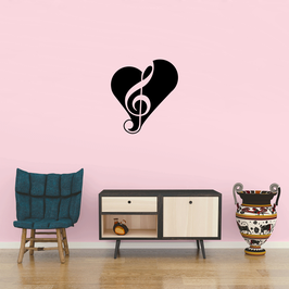 Treble Clef Heart (Medium)