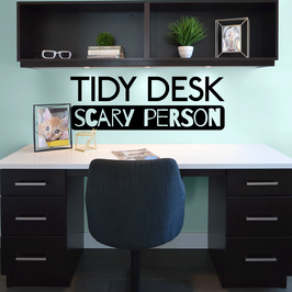 Tidy Desk Scary Person (large)