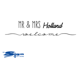 Mr & Mr [Your Last Name] Welcome (large)