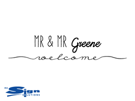 Mr & Mr [Your Last Name] Welcome (small)