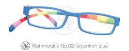 Klammeraffe® No. 08 farbenfroh/blue