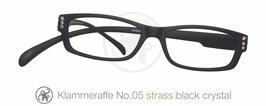 Klammeraffe® No. 05 black/Strass white