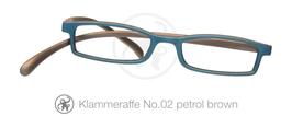 Klammeraffe® No. 02 petrol/brown