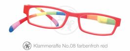 Klammeraffe® No. 08 farbenfroh/red