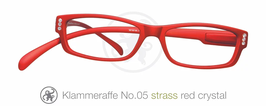 Klammeraffe® No. 05 red/Strass white