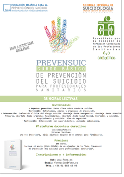Prevensuic. Curso básico de prevención del suicidio para profesionales sanitarios (incluye la Guía práctica Prevensuic).