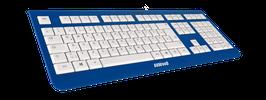 Deep Ocean (weiß) - OliWooD USB Tastatur