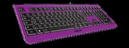 Purple Rain (schwarz) - OliWooD USB Tastatur