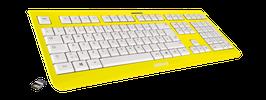 Flash Yellow (weiß) - OliWooD Funk Tastatur