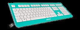Blue Skydive (weiß) - OliWooD Funk Tastatur