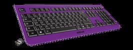 Purple Rain (schwarz) - OliWooD Funk Tastatur