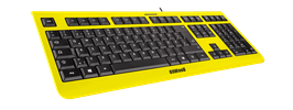 Flash Yellow (schwarz) - OliWooD USB Tastatur