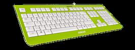 Lime Green (weiß) - OliWooD USB Tastatur