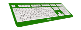 Irish Luck (weiß) - OliWooD USB Tastatur