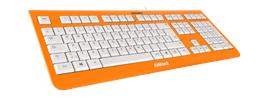Shock Orange (weiß) - OliWooD USB Tastatur