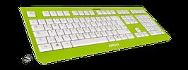 Lime Green (weiß) - OliWooD Funk Tastatur