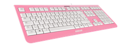 Frozen Raspberry (weiß) - OliWooD USB Tastatur