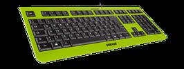 Lime Green (schwarz) - OliWooD USB Tastatur
