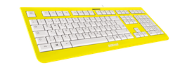Flash Yellow (weiß) - OliWooD USB Tastatur