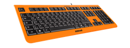 Shock Orange (schwarz) - OliWooD USB Tastatur