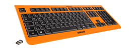 Shock Orange (schwarz) - OliWooD Funk Tastatur