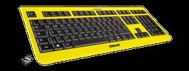 Flash Yellow (schwarz) - OliWooD Funk Tastatur