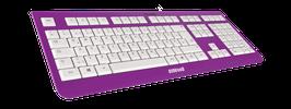 Purple Rain (weiß) - OliWooD USB Tastatur