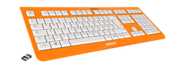 Shock Orange (weiß) - OliWooD Funk Tastatur