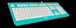 Blue Skydive (weiß) - OliWooD USB Tastatur