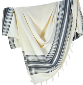 Jeté de canapé/lit blanc à rayures colorées 1,5mx2,5m