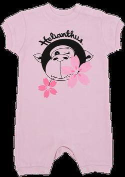 ジャンプスーツ(半袖) ゴリラ(ピンク)