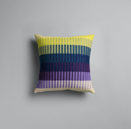 Asmund Gradient Kissen Cushion Roros Tweed- violet/yellow