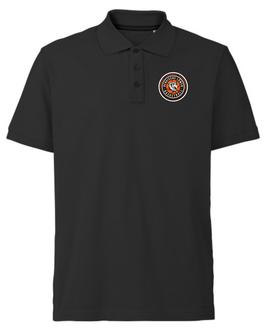 Poloshirt Black aus 100% Baumwolle mit SG Bergische Löwen Logo