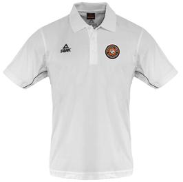 PEAK Performance Polo White mit SG Bergische Löwen Logo