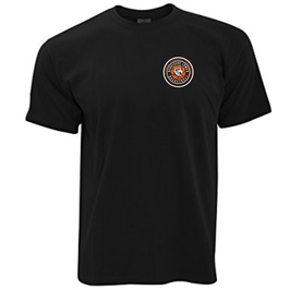 T-Shirt Black mit SG Bergische Löwen Logo und Wunschnamen