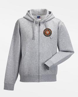 Zip-Hoody Grey mit SG Bergische Löwen Logos und Spielernamen