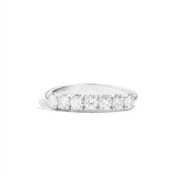 Recarlo Anello fedina 7 pietre Anniversary, oro bianco 18 Kt e diamanti XB735/025 MISURA 14