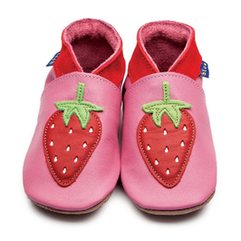 Inch Blue Krabbelschuhe Erdbeere rose pink