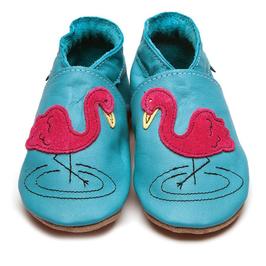 Inch Blue Krabbelschuhe Flamingo türkis