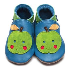 Inch Blue Krabbelschuhe Apfel blau