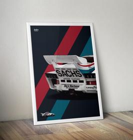 Poster Porsche 935 Martini - Heck