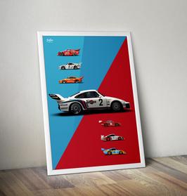 Poster Porsche 935 Overview