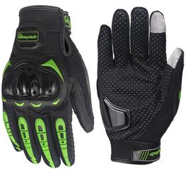 Motor handschoenen groen met  scherm aanraking