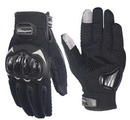 Motorhandschoenen zwart met scherm aanraking