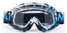 Motorcross bril spray blue
