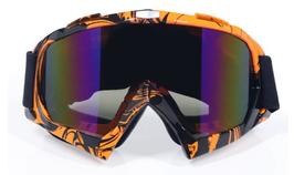Motorcross bril orange tiger