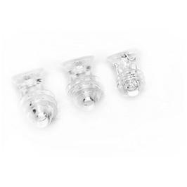 Ersatz Ohrpasstücke transparent - für Refcom, 4 Größen