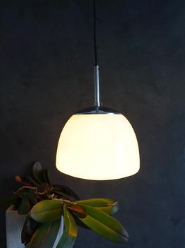 Midcentury Leuchte Staff & Schwarz 1960er Chrom Opalglas Bauhaus Stil