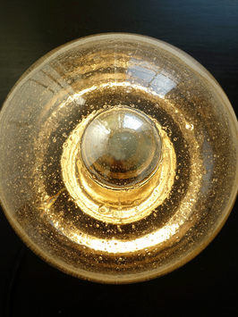 Große Glas Bubble Pilz Kugelleuchte Deckenlampe Vintage 1970