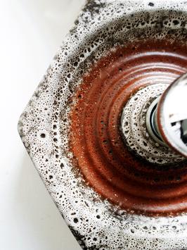 Fat Lava Keramik Oktagon-Wandleuchte Hustadt 1960 - 1970er